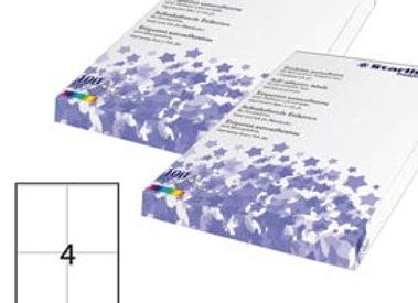 Etichetta adesiva - permanente - 105x140 mm - 4 etichette per foglio - bianco -