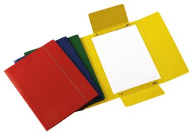 Cartellina c/elastico 25x34cm rosso presspan