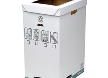 Cestino per riciclo bankers box system - capacità 90 litri - 30x50 cm - dorso 60