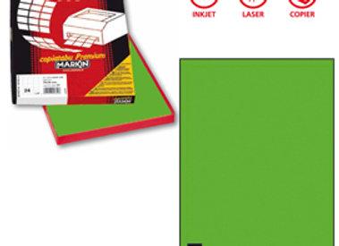Etichetta adesiva c503 - permanente - 210x297 mm - 1 etichetta per foglio - verd