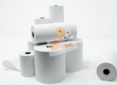 Blister rotoli carta termica bpa free - 57mmx25mt - 55gr/mq - 10 pezzi - rotomar