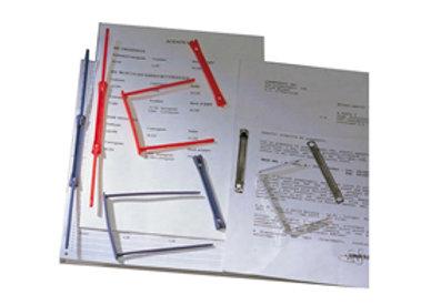 Fastener fermafogli data clip - per tabulati - plastica - blu -CF.100 PZ