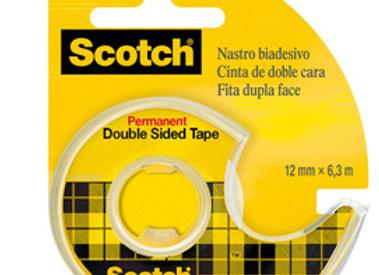 Nastro biadesivo 6,3mtx12mm 665-136d permanente s/liner in chiocciola