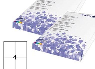 Etichetta adesiva - permanente - 105x148,5 mm - 4 etichette per foglio - bianco