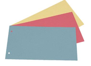 Separatori cartoncino manilla - 200 gr. 12.5x23 cm azzurro - conf. 200 pz.