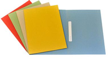 Cartelline semplici con pressino - cartoncino manilla 200 gr - 25x34 cm - azzurr