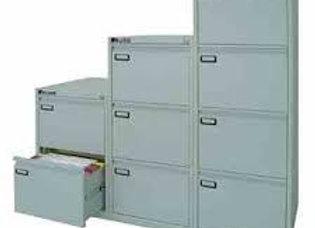 Classificatore kubo 4 cassetti per cart. Sospese grigio h 132cm