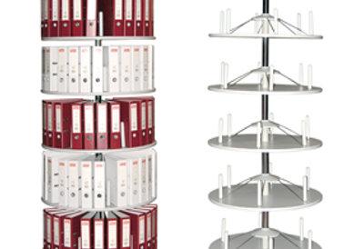 Archiviatore girevole rondo' 5 ripiani h205cm