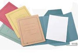 Numero 50 cartelline 3 lembi azzurro c/stampa 200gr