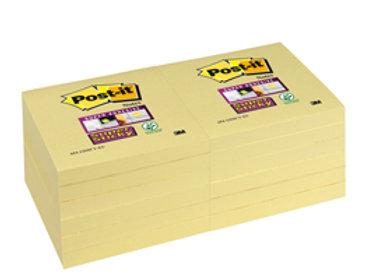 Blocco post it® super sticky giallo canary™ - 76 x 76mm - 90 fogli - post it®