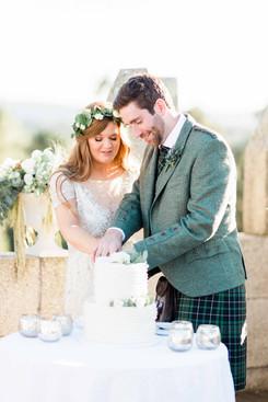 J&P Wedding cake