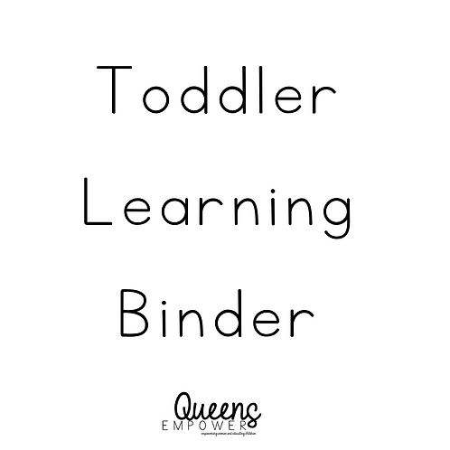 Toddler Learning Binder