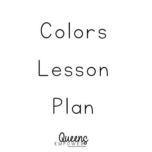 Colors Lesson Plan