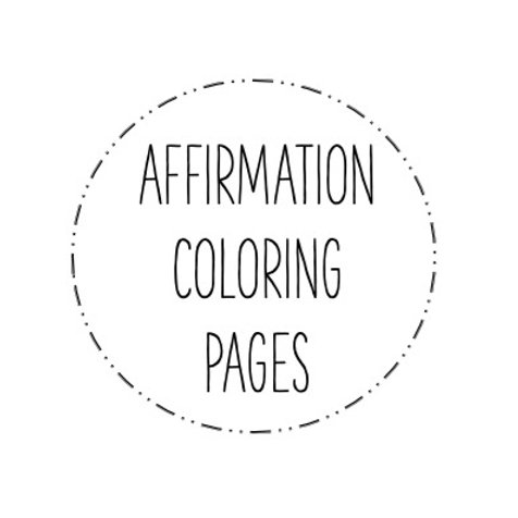 Affirmation Coloring Pages