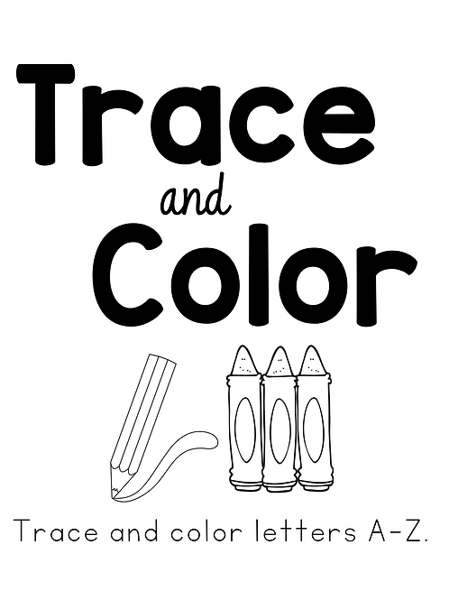 Trace and Color Booklet