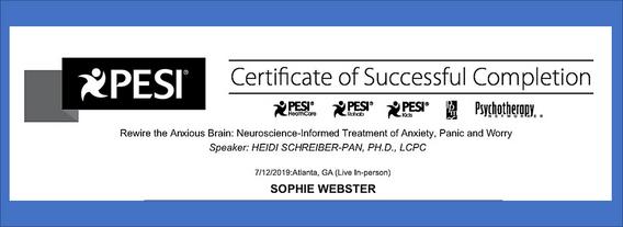 Rewiring the brain certificate