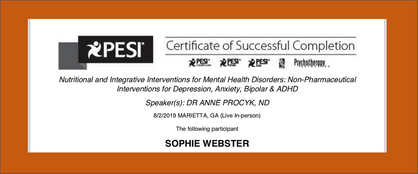 Nutrition and Integrative Health Certificate