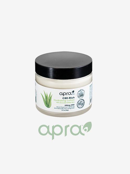 CBD Rich Hydrating Lotion w/Avocado and Aloe Vera, 100mg: