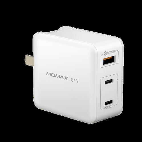ONEPlug 3-port GaN 快速充電器 65W 全球通用