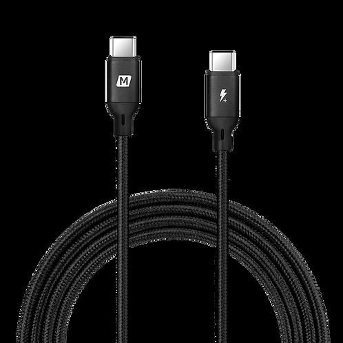 Go-link USB-C to USB-C 100W PD 編織紋充電線 (2米)
