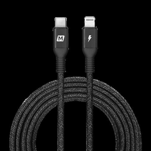 Elite Link Lightning 至 USB-C 連接線 (3米) 黑色 MFi 超長快充