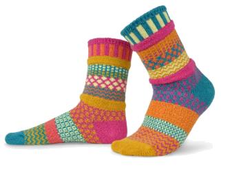 Saffron Crew Cut Solmate Socks