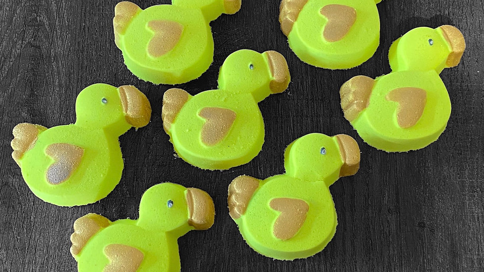 Apricot Scented Duckie Bath Bomb