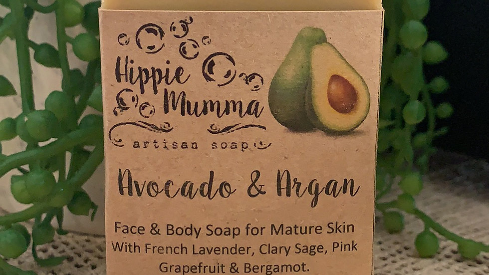 Avocado & Argan Face & Body Bar