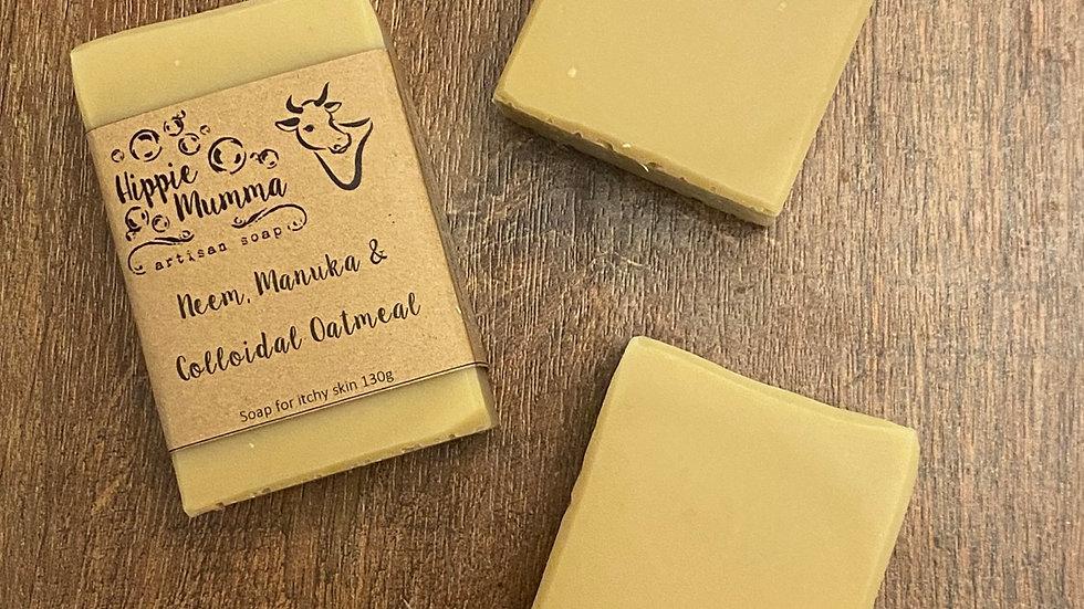 Neem, Manuka & Oatmeal Unscented Soap