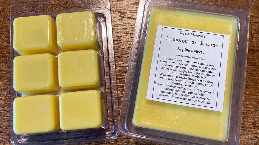 Lemongrass & Lime Soy Wax Melts