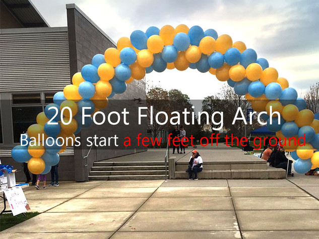 20 Foot Floating Spiral Arch