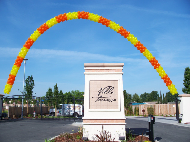 65 Foot Cluster Block Pattern Arch