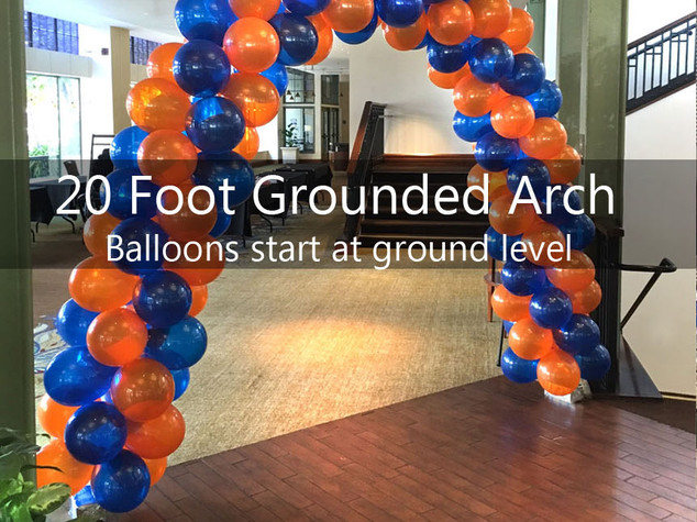 20 Foot Grounded Spiral Arch