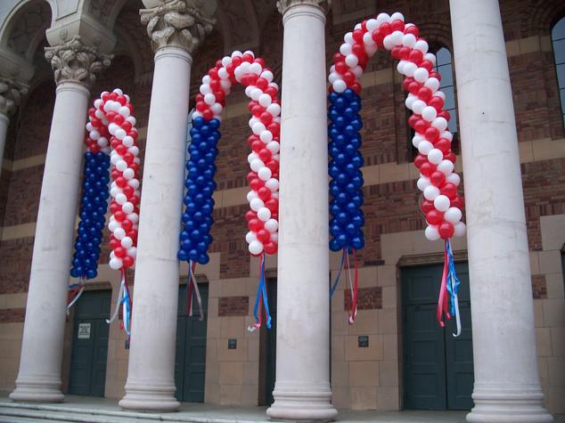 Patriotic Flag Pattern Arches