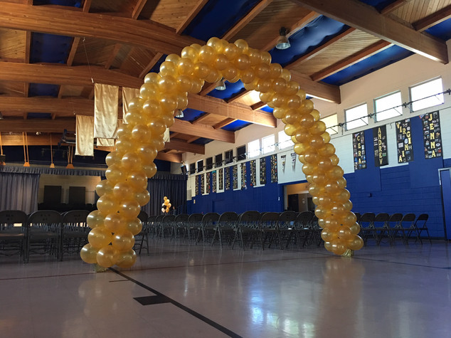 25 Foot Solid Color Cluster Arch