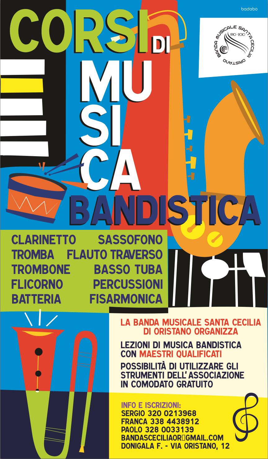Campagna promozionale corsi di musica per la Banda Santa Cecilia