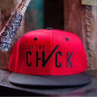Cut The Check Snapback - Red/Black
