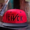 Thumbnail: Cut The Check Snapback Flat Bill - Black/Red