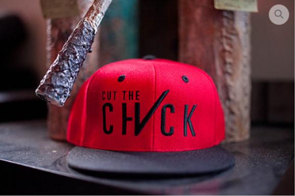 Cut The Check Snapback Flat Bill - Black/Red