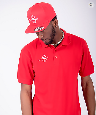Cash Made Polo - Red/White