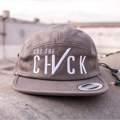 Cut The Check 8 Panel Hat - Grey/White