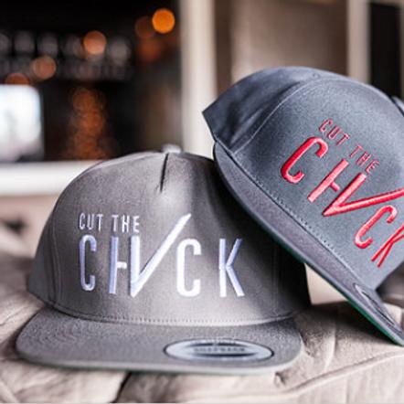 Cut The Check Snapback Flat Bill - Grey/Red