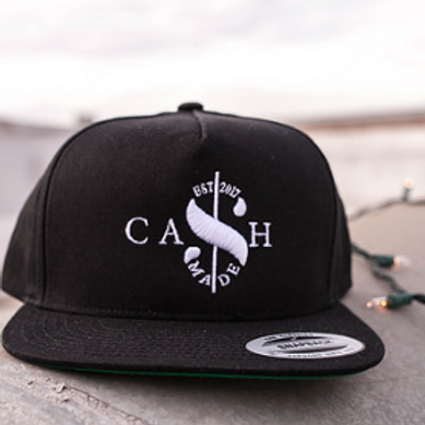 Cash Made Snapback Flat Bill - Black/White