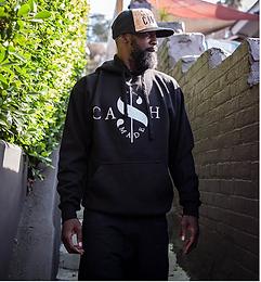 Cash Made Unisex Hoodie - Black/White