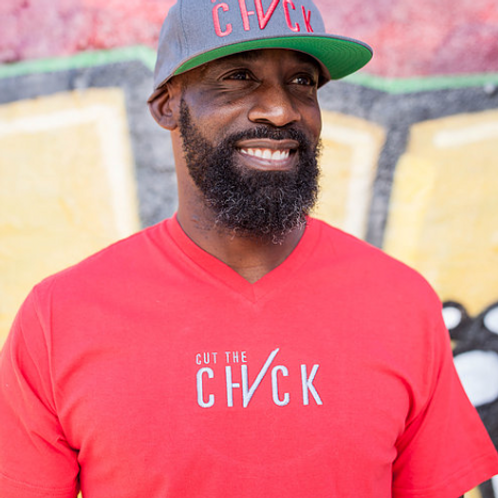 Cut the Check Men's V-Neck - Red/Grey