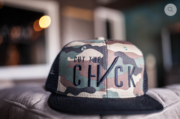 Cut The Check Truckers Hat - Camo