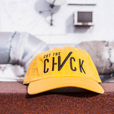 Cut The Check Dad's Hat - Yellow/Black