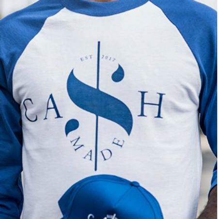 Cash Made Baseball Tee - White/Blue