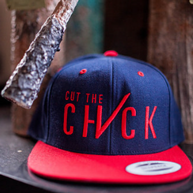 Cut The Check Snapback - Blue/Red