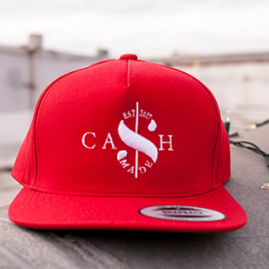 Cash Made Snapback Flat Bill - Red/White
